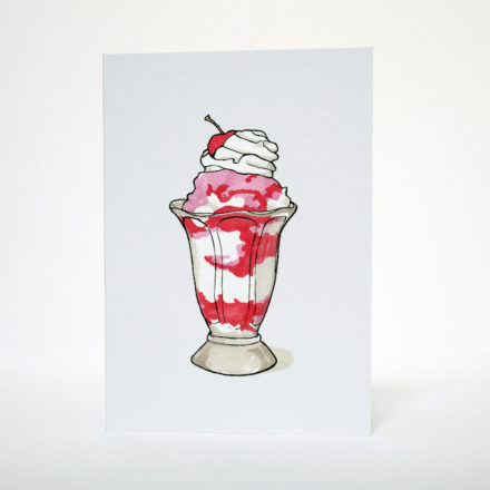 Sundae Greetings Card - Things by us