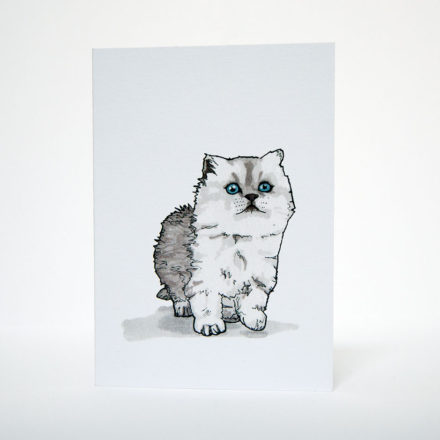 Kitten Greetings Card - Things by us
