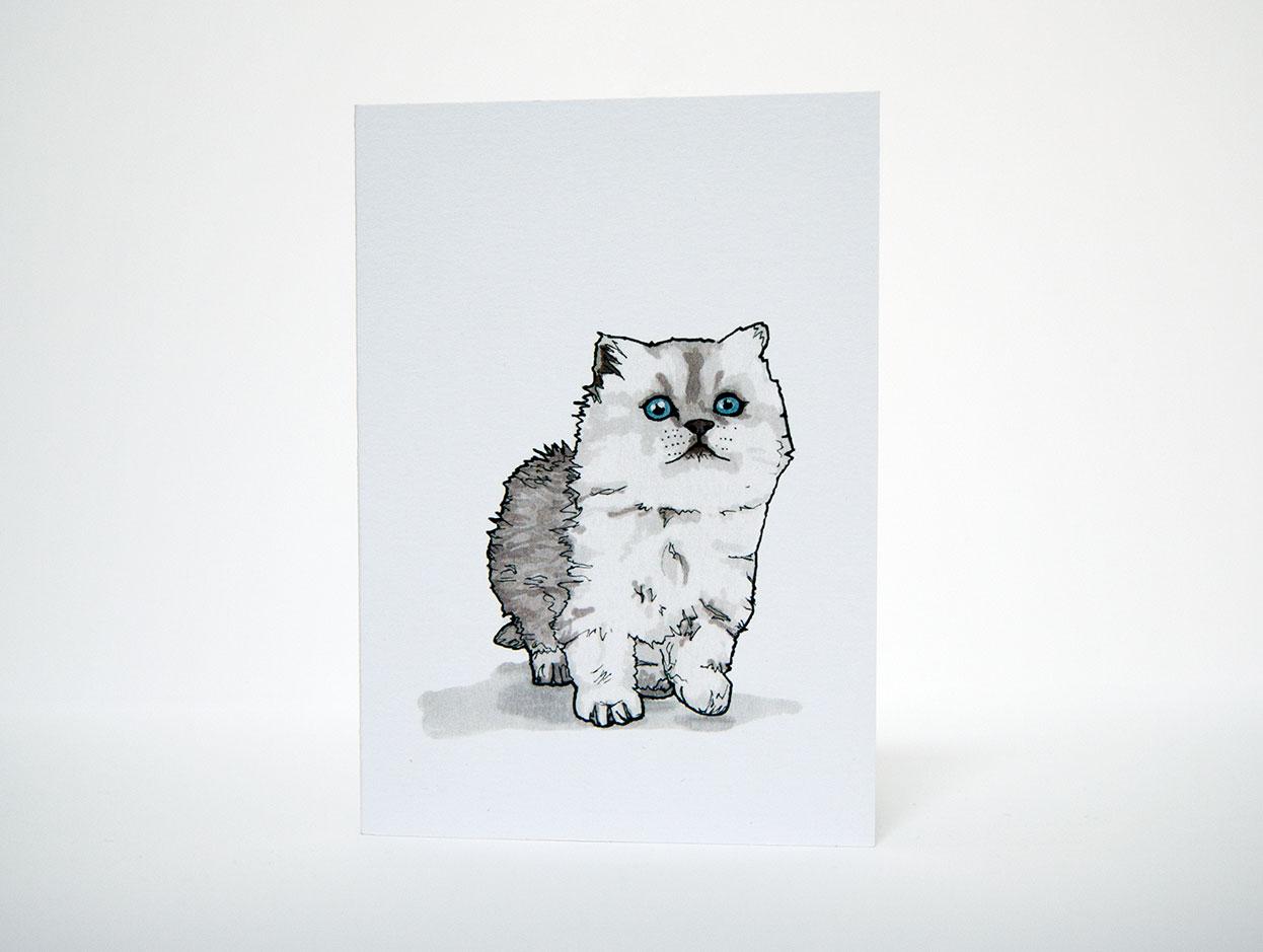 Kitten Greetings Card - Things by us