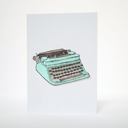 Typewriter Greetings Card by Things by us
