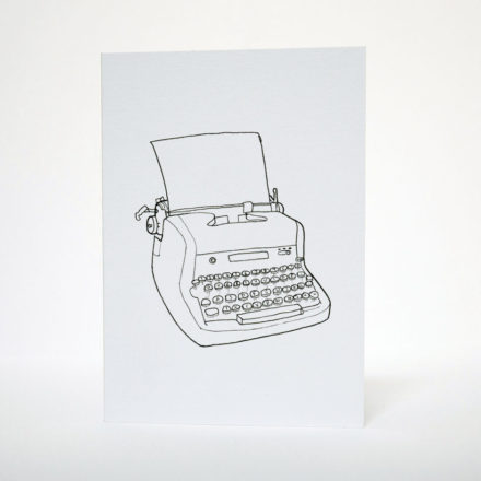 Typewriter Greetings Card - Things by us