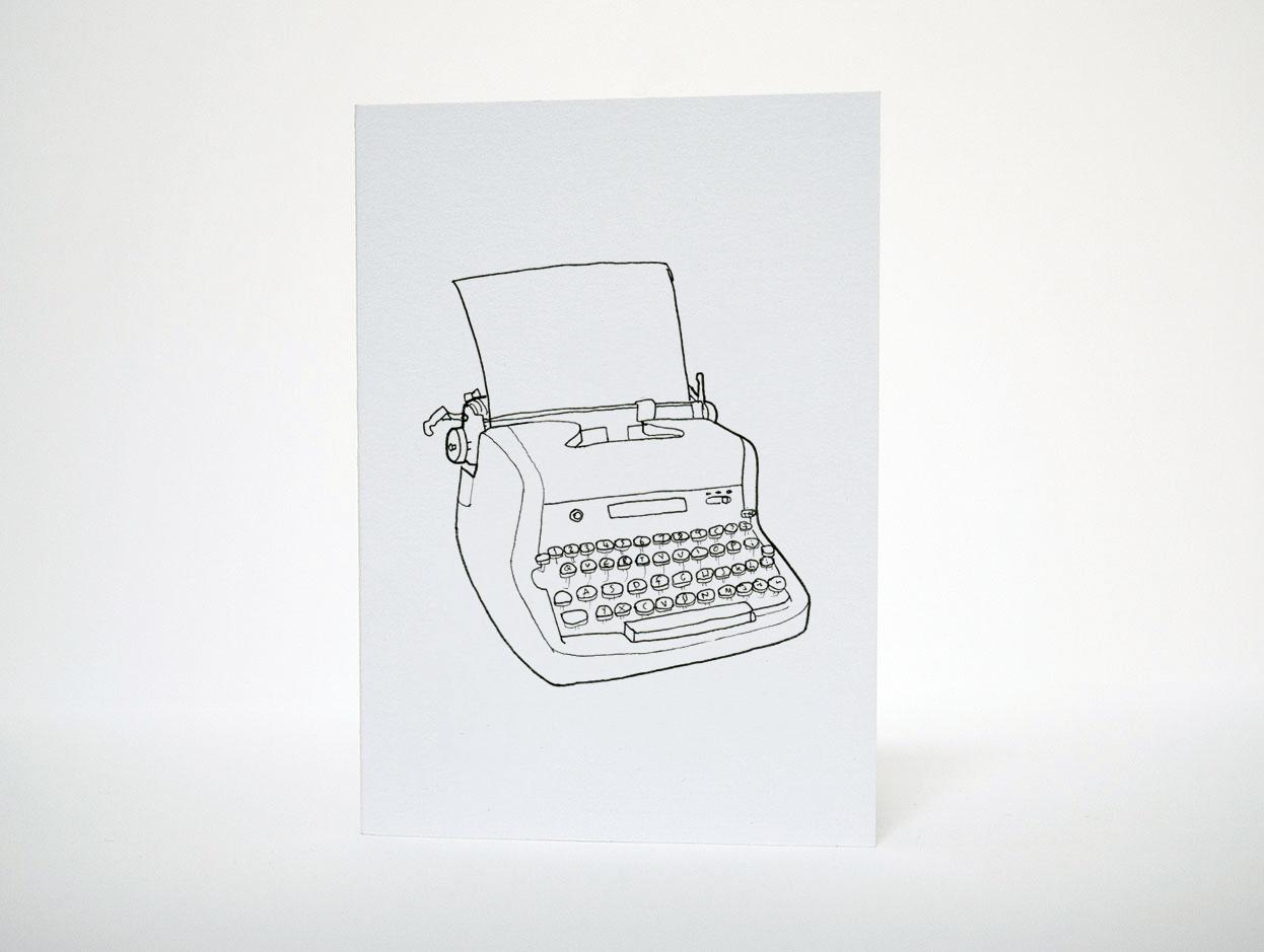 Typewriter Greetings Card - Things by us