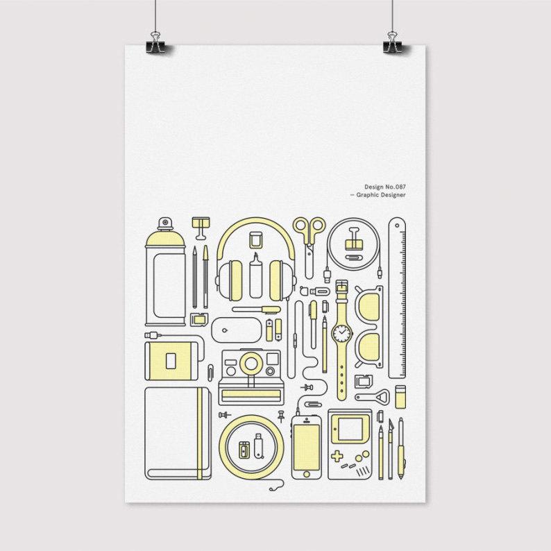 Designer - Object Illustration by Mark Adamson