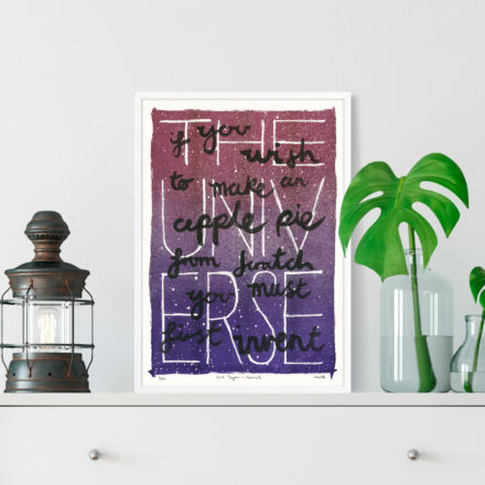 Carl Sagan Cosmos Print - Things by us