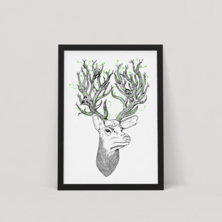 Deer Spirits - Screen Print by Things by us