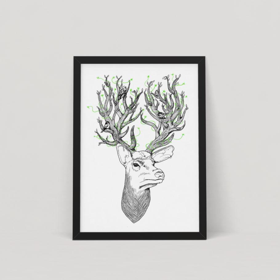 Deer Spirits - Screen Print by Things by us