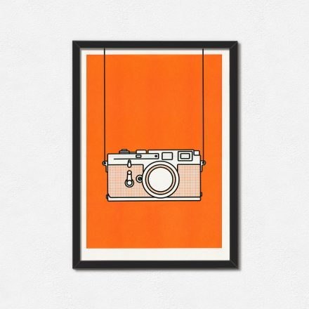 Minimal Orange Leica M3 Print by Things by us