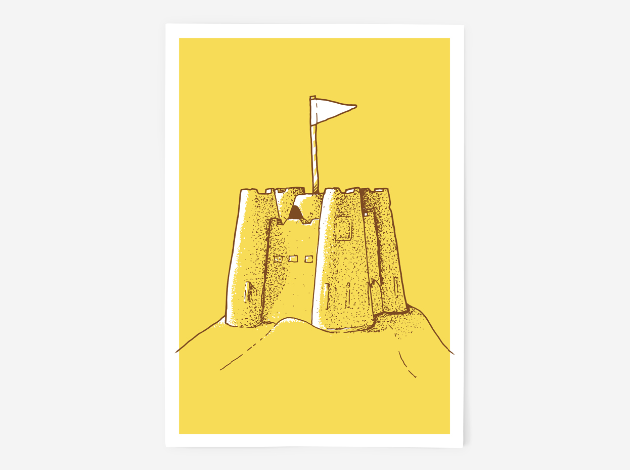 Sandcastle Screen Print by Things By Us