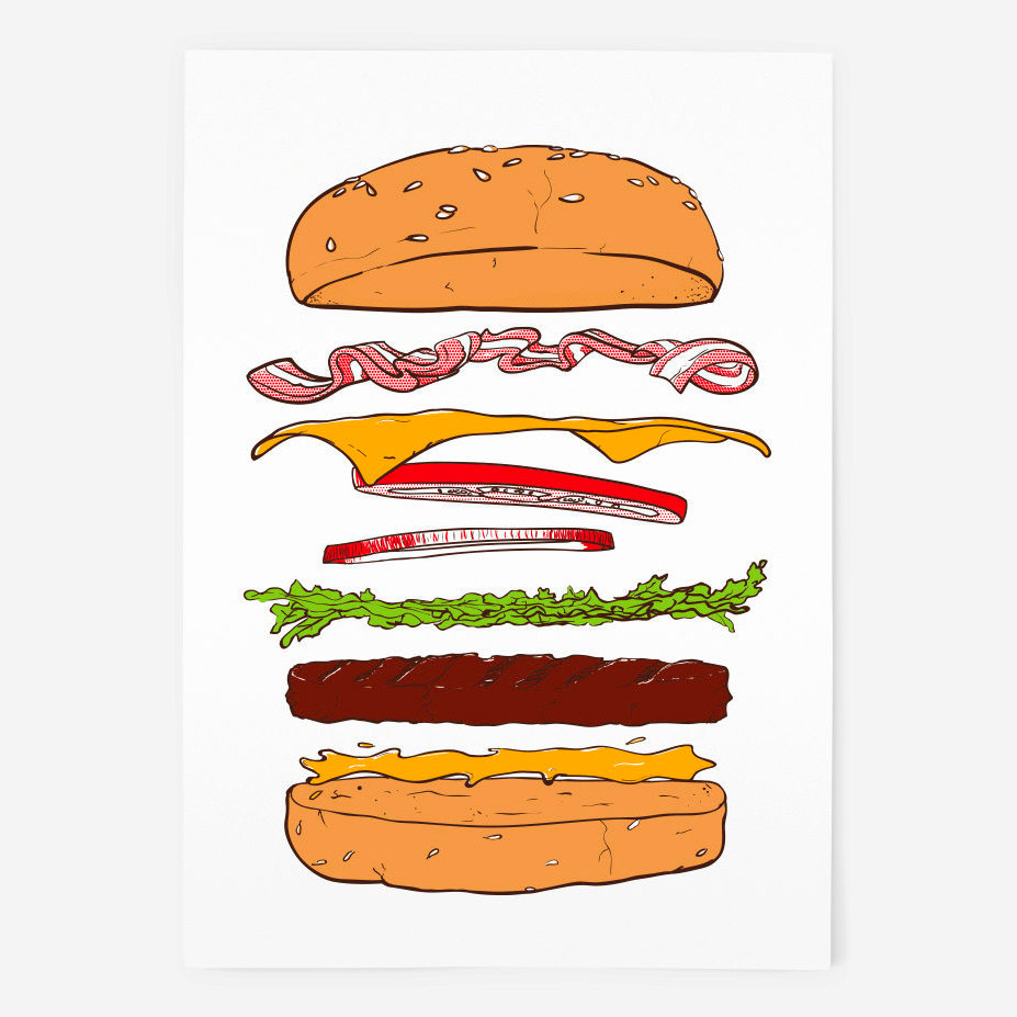 Gourmet Burger Screenprint - Things by us