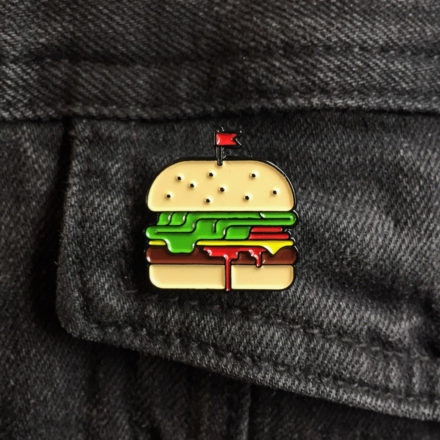 Burger Enamel Pin -Things by us