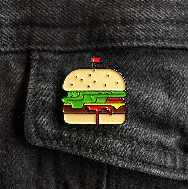 Burger Enamel Pin -Things by us