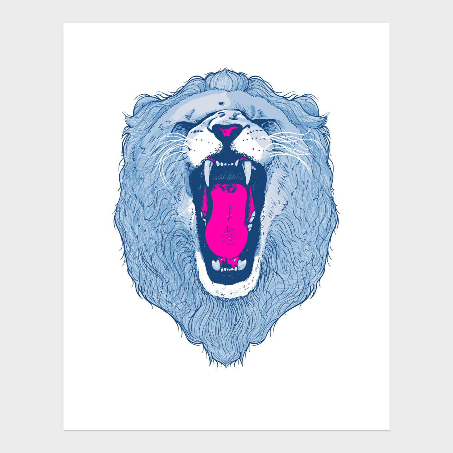 Lion face screen print by Things by us