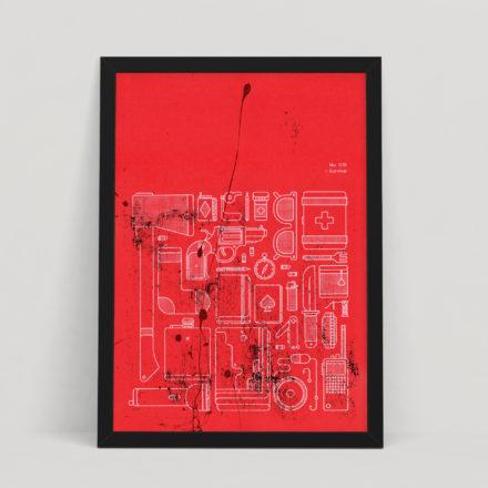 Survival – Large A2 Silkscreen Art Print – Walking Dead / Zombie / Horror Inspired Poster