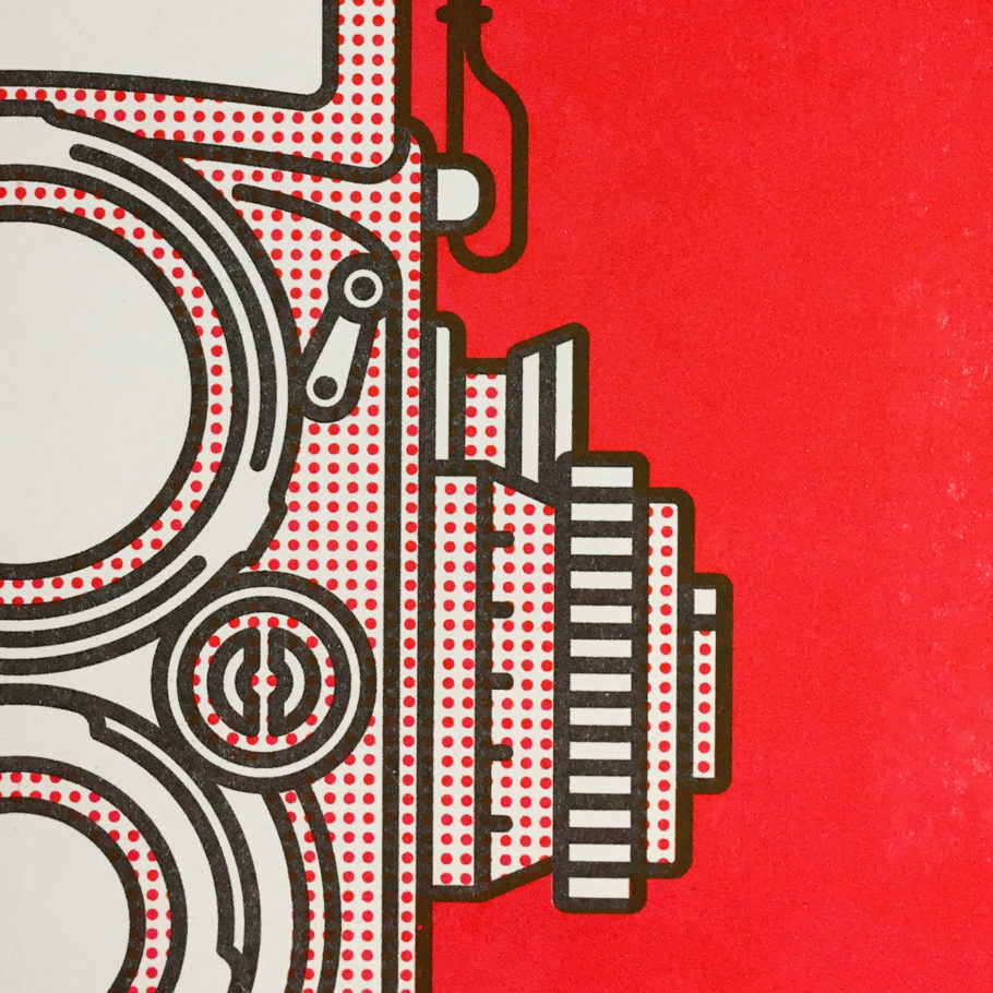 A3 Rolleiflex Risograph Print by Things by us