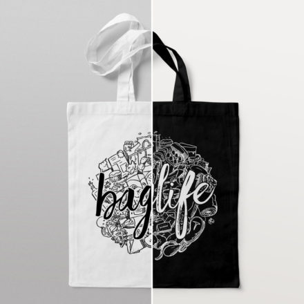 'Baglife' Tote Bag by Things By Us