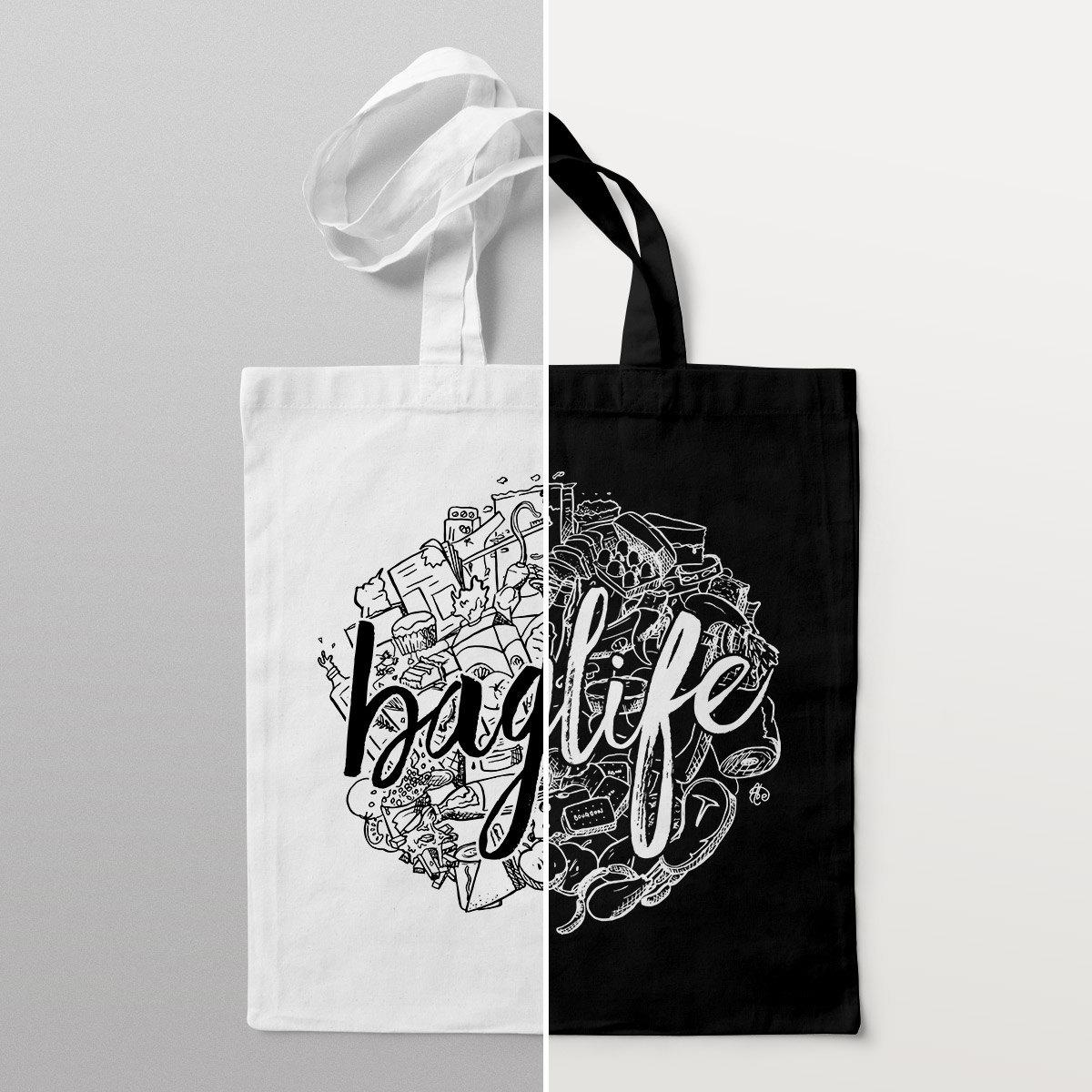 'Baglife' Tote Bag by Things By Us
