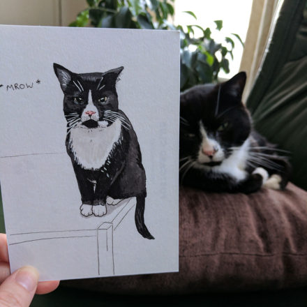Cat Postcard from Liverpool by Things by us