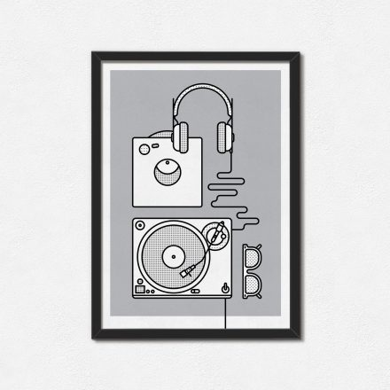 A3 Vinyl record player Art print by Things by us