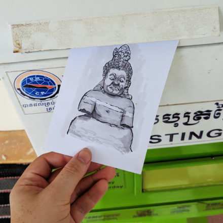 Handmade postcard from Cambodia by Things by us