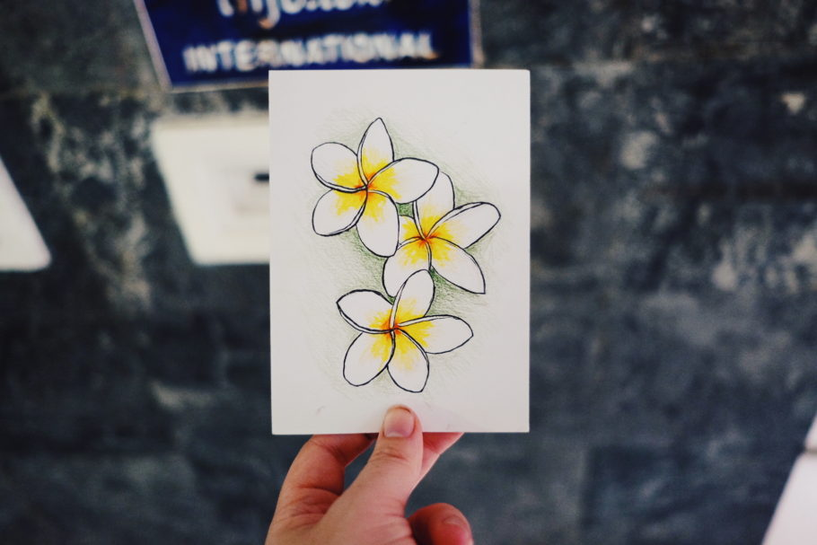 Postcard from Laos of the national flower