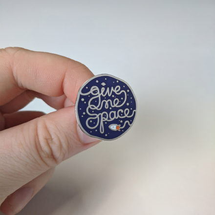 'Give me space' enamel pin by Things by us