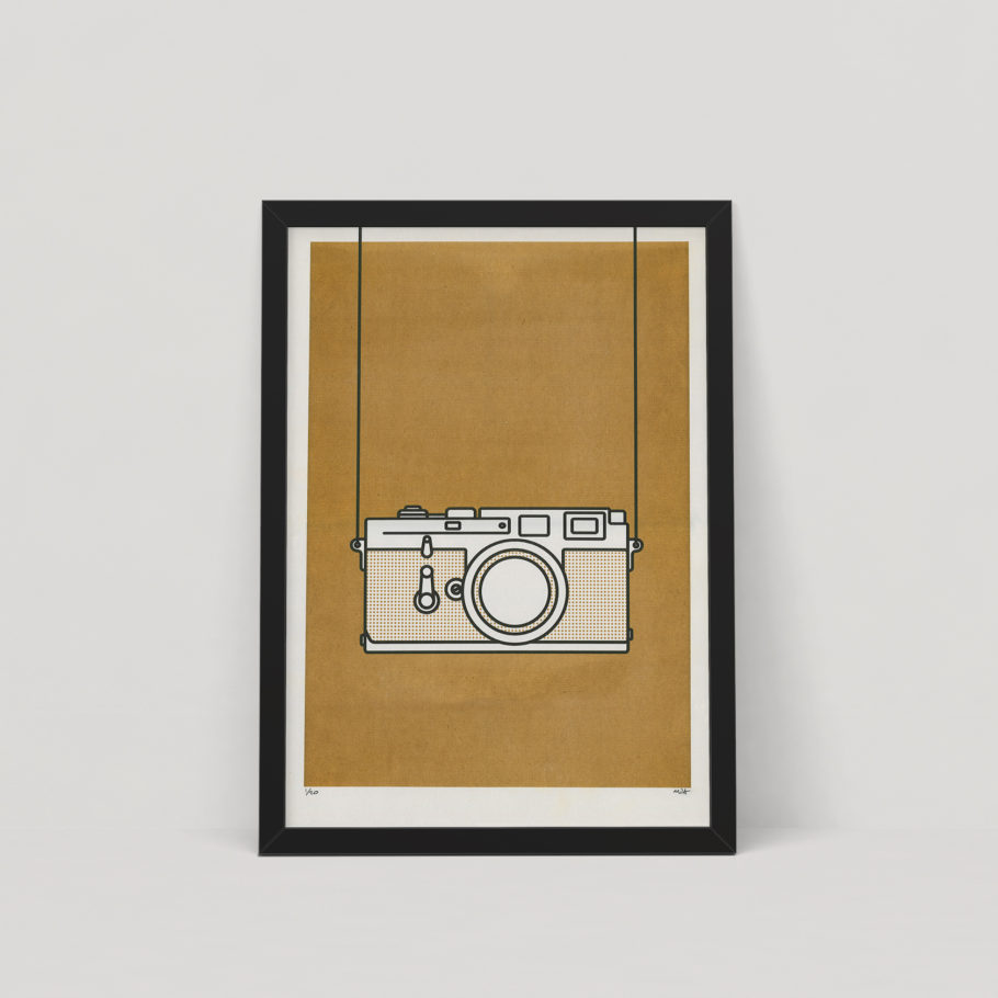 Minimal Gold Leica M3 Art Print by Things by us