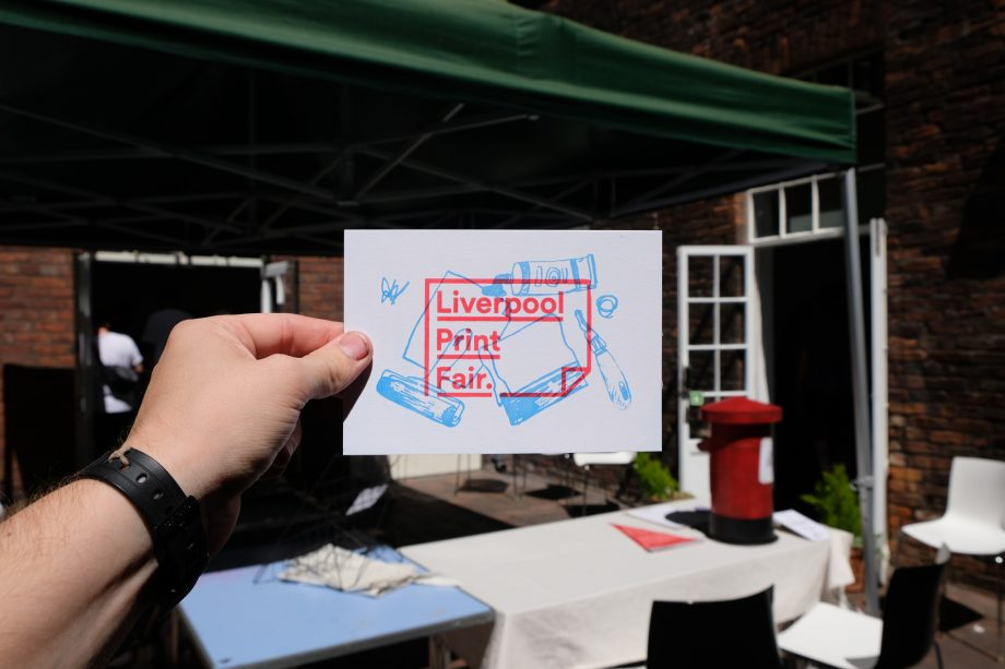 Our postcard workshop at Liverpool Print Fair