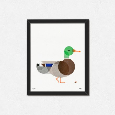 Geometric Duck, Minimal Art Print by Things by us