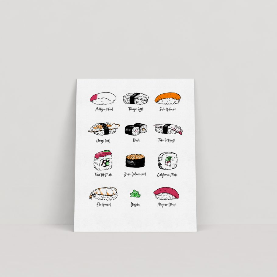 sushi print by things by us