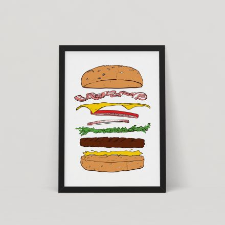burger screen print by things by us
