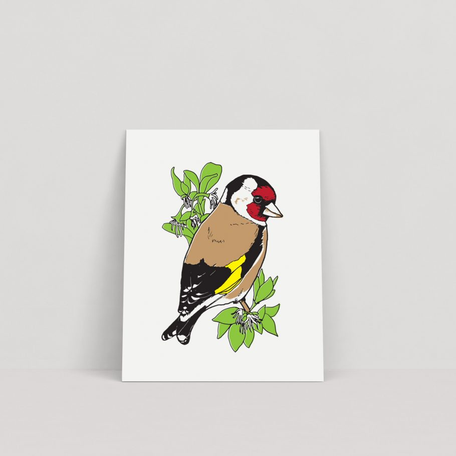 Goldfinch Art print by Things by us