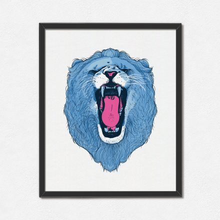 Roaring lion art print by Abigail Sinclair