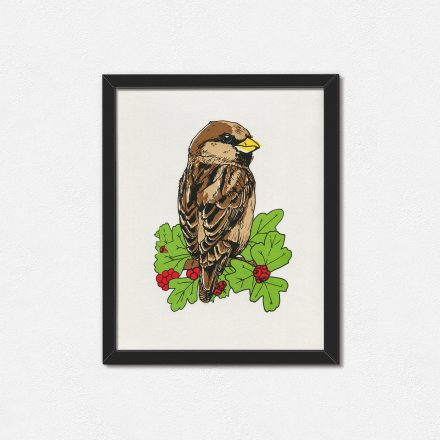 Sparrow Art print by Things by us