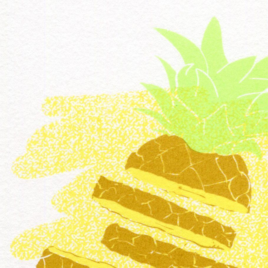 Close-up of a pineapple art print