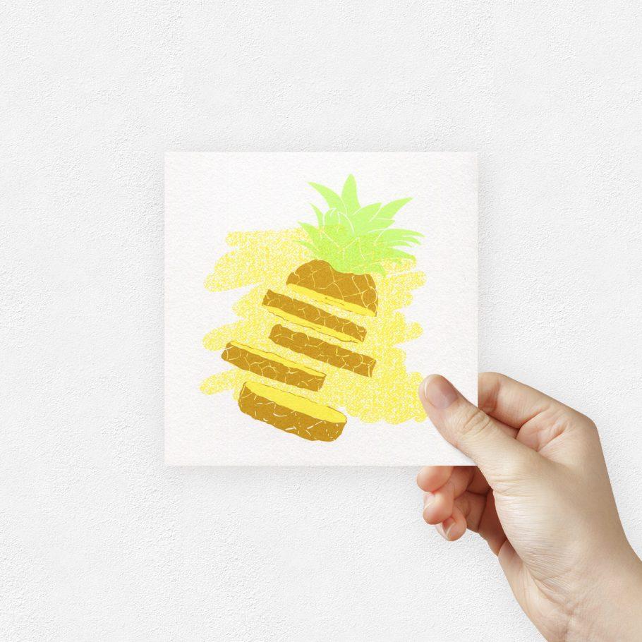pineapple art print by things by us